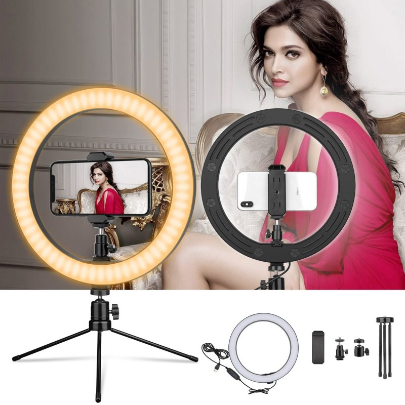 ohotter 10 inches usb ring light