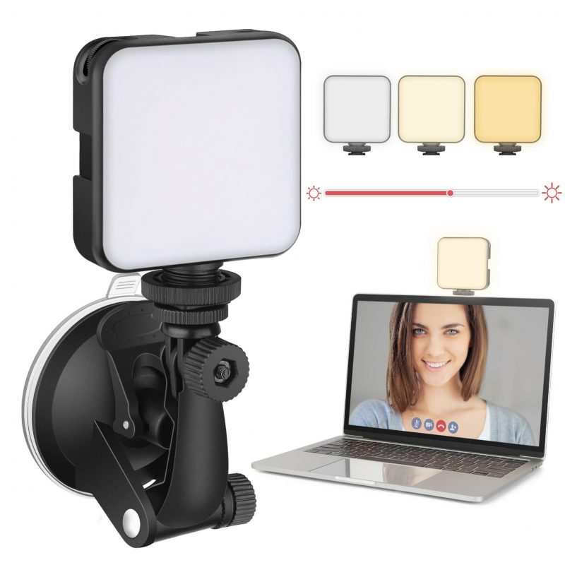 webcam lighting kit with suction cup
