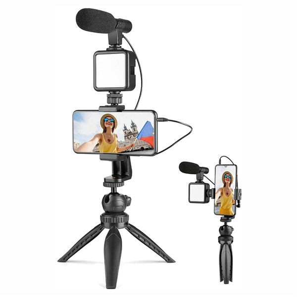 ring light with microphone